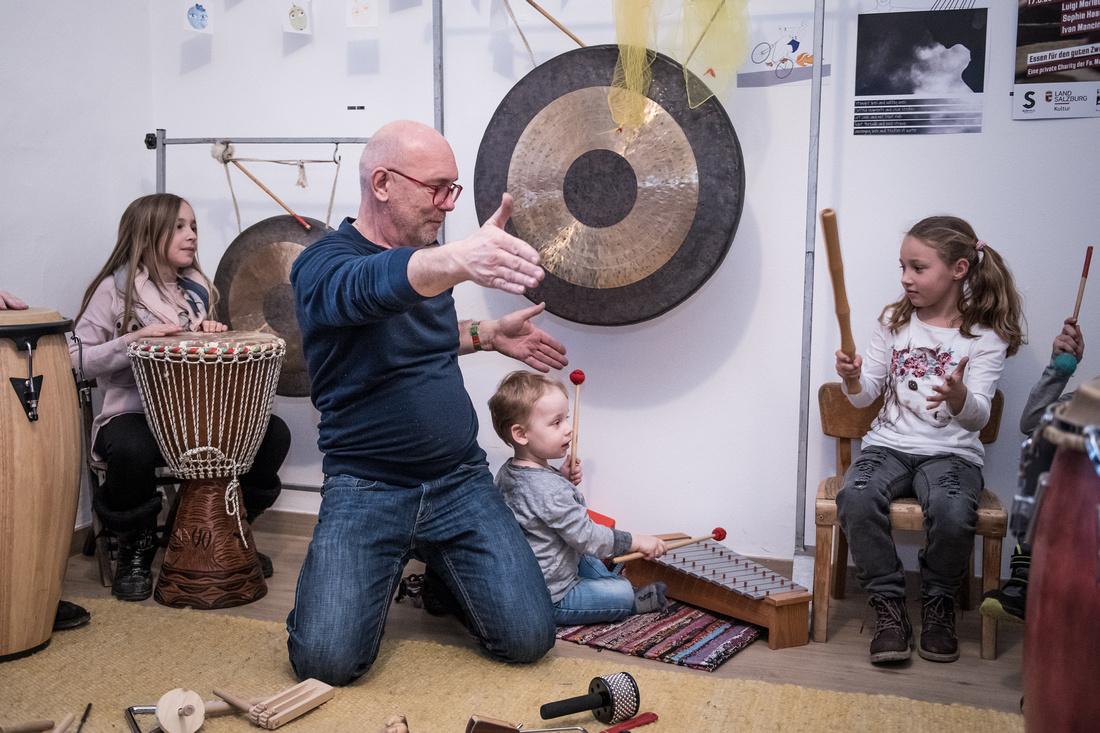 Internationales Halleiner Schlagzeugvestival _Workshop Trommel mit_08.03.2018